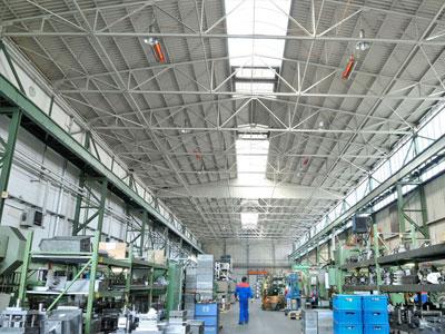 Chauffage entrepôt industriel